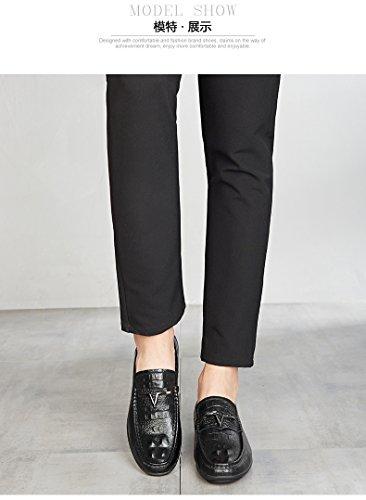 SPEEDEVE Mocasines de Cuero Para Hombre Elegante Oxfords Zapatos Para Vestido Formal Negocio Fiesta Boda: Amazon.es: Zapatos y complementos
