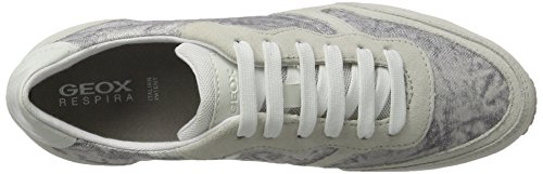 Wisdom D Blanc Sneakers Femme Whitec1352 white Basses D off Geox 76qgZg