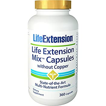 Life Extension Mix without Copper Capsules, 490 Count