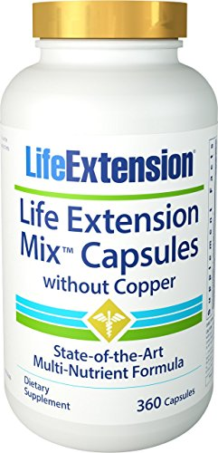 Life Extension Mix Capsules Without Copper, 360 Capsules 3 Pack