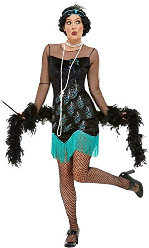 Ladies Sexy Peacock 1920's Flapper Charleston Dance TV Book Film Movie Hen Do Night Party Fancy Dress Costume Outfit (UK ()