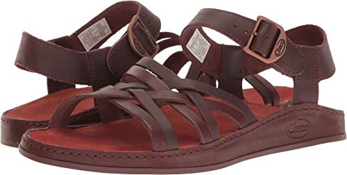 Chaco Women's Fallon Sandal, Java, 9 M US (Brown Sandals Leather)