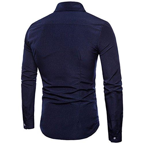 larga slim para de de Camisa el y corte hombre ajuste manga Camisa casual AzxOqwqY