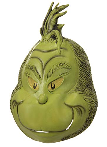 elope Men's Grinch Deluxe Full Mask, Green, One Size]()