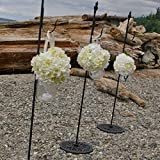 Darice 11-227-30 Wreath Hanger Metal Free Stand 30 Inches, Black For Sale