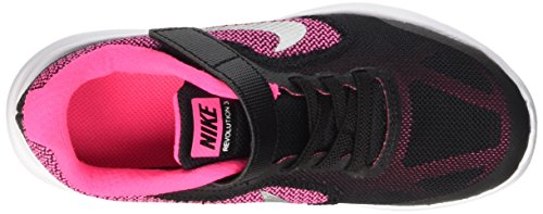 Nike 819417-001, Zapatillas de Deporte para Niñas Negro (Black / Metallic Silver / Hyper Pink / White)