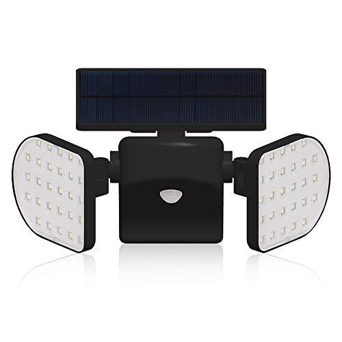 Motion Sensor Light Outdoor, YULAMP 56 LED Solar Light Outdoor With Motion Sensor Wall Light Adjustable Solar Motion Sensor Spotlight Waterproof 360-Degree Solar Powered Security Light for Yard ()