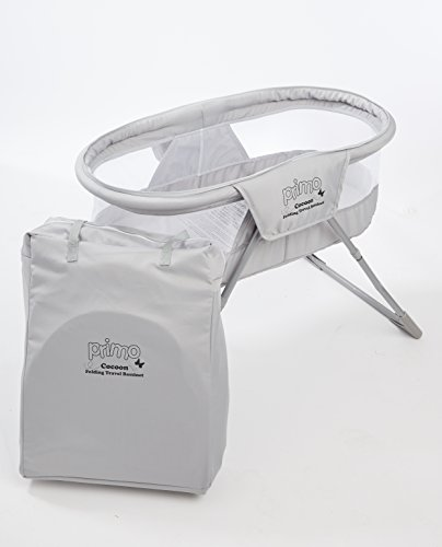 41vAQqOFReL - Primo Cocoon Folding Indoor & Outdoor Travel Bassinet With Bag, Grey