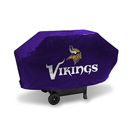 NFL Minnesota Vikings Vinyl Padded Deluxe Grill Cover (Cover Team Jersey Grill)