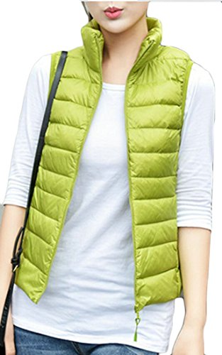 Women's Down Color amp;S 1 Collar Stand M Vest Lightweight Fashion amp;W Solid qHZHxER