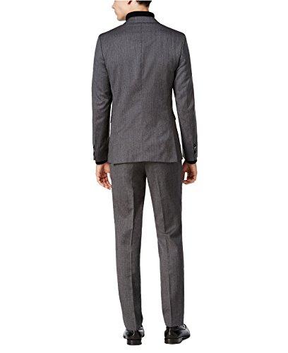Hugo Boss Astian/Hets Extra Slim Fit 2 Piece Men's 100% Virgin Wool Suit Melange Herringbone 50320624 033 by HUGO (46 Regular USA Jacket / 40 Waist Pants) by HUGO BOSS (Image #2)