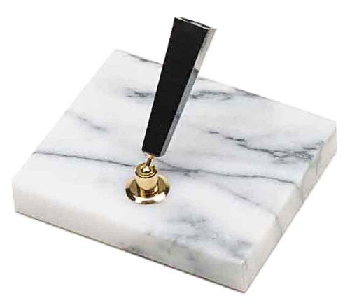 Stand Pen Marble (Platinum marble desk pen stand 1 double feature white DPD3000A # 3 (japan import))