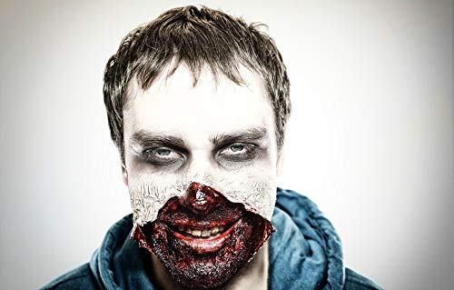 Peel-n-Stick Poster of Shock Make-up Men Horror Spooky Face Zombie Vivid Imagery Poster 24 x 16 Adhesive Sticker Poster Print -