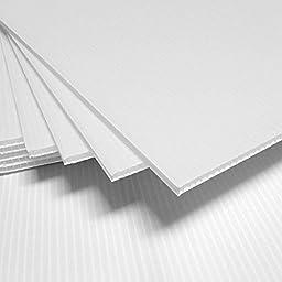 Corrugated Plastic 4MM White Sign Blanks - 24\