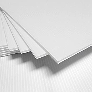 Amazon Com Corrugated Plastic 4mm White Sign Blanks 24