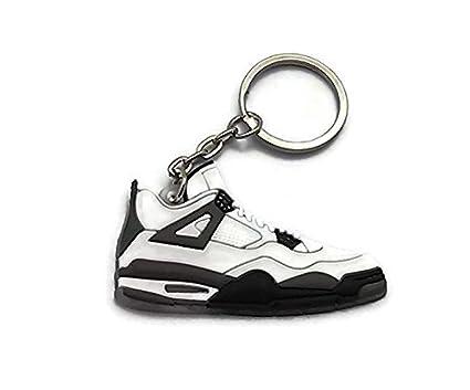 2c2b27fc43c992 Amazon.com  Jordan IV 4 LS White Grey Cement Undefeated Sneakers ...