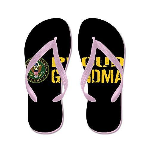Esercito Di Noi Militari: Fiero Nonno (nero E Oro) - Infradito, Sandali Infradito Divertenti, Sandali Da Spiaggia Rosa