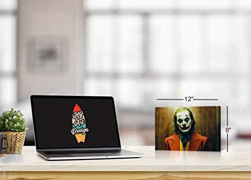 New Joker 2019 Joaquin Phoenix Serious Canvas Print Wall Decor Office Dorm Room Bathroom Living Room Bedroom Wall Art Ready to Hang 30×40
