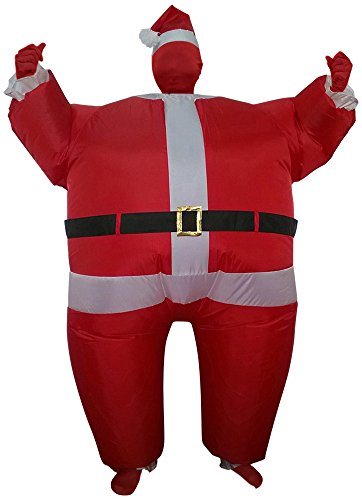Green Man Factory Adult Inflatable Santa Body Suit - Medium (Inflatable Body Costume)