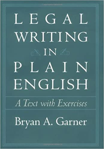 Amazon.com: Legal Writing in Plain English: A Text with Exercises ...