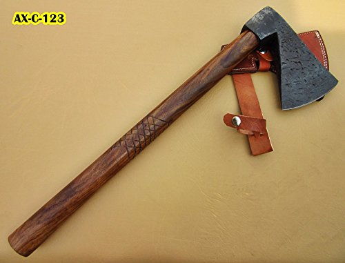 DIST Axc-123, Custom Handmade Hi Carbon Steel 20.6 Inches Solid Axe – Beautiful Rose Wood Handle
