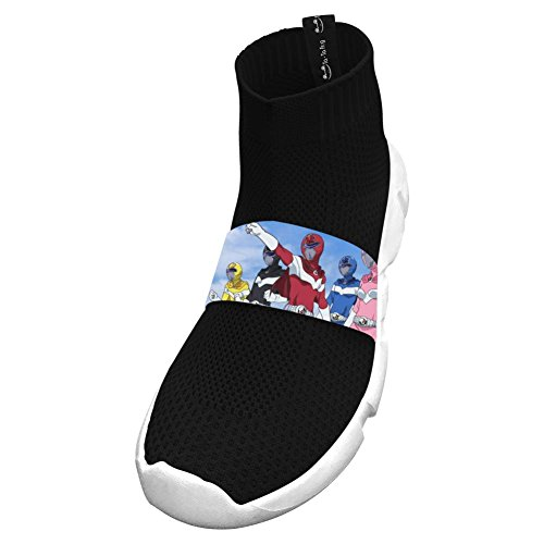 Fly Knit Lightweight Power Dragon Athletic No Tie Black Sneakers For Girls 2 D(M) Us Big Kid