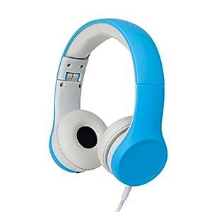 Kids Headphones Volume Limiting and Audio Sharing Port (Blue)