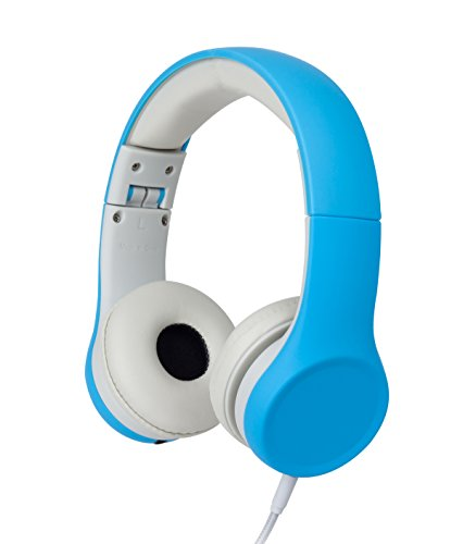 Kids Headphones Volume Limiting and Audio Sharing Port (Blue)