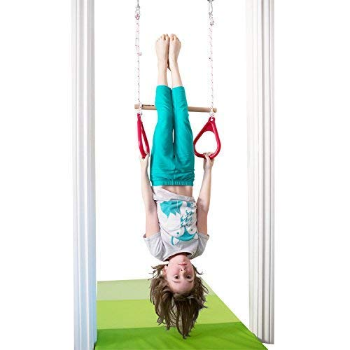 DreamGYM Doorway Gymnastics Bar | Trapeze Bar and Rings Combo | Yellow by DreamGYM (Image #8)