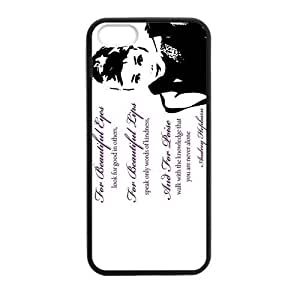 SUUER Rubber Silicone Custom Audrey Hepburn Custom Rubber Tpu CASE for iPhone 5 5s Durable Case Cover by heywan