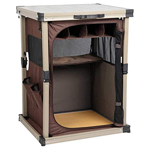 (Timber-Ridge - Lightweight Aluminum Frame, Heat-Resistant and Easy to Clean Camp Pantry/Table)