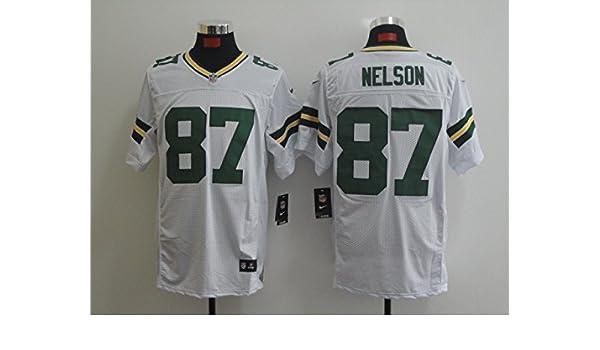Mens Green Bay Jordy Nelson  87 Elite Jersey White 211a6de52