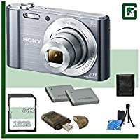 Sony DSC-W830 Digital Camera + 16GB Greens Camera Package 3