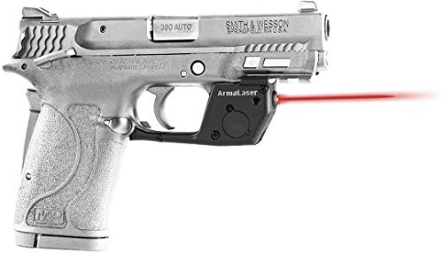 - ArmaLaser TR28 S&W M&P 380 Shield EZ Ultra Bright Red Laser Sight Grip Activation Smith and Wesson