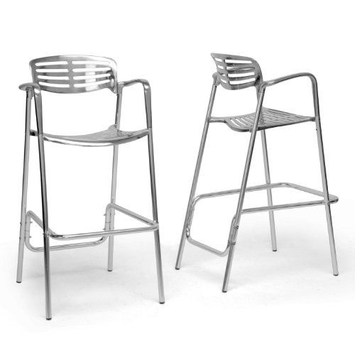 Baxton Studio Ethan Modern Bar Stool, Aluminum, Set of 2 Review