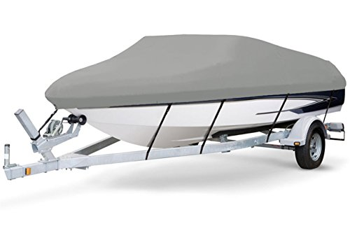 7oz Solution Dyed Polyester Grey, Styled to FIT Boat Cover for SEA RAY 210 SUNDECK W/O EXTD SWPF 1998-2001 (Sea Ray 210 Sundeck)