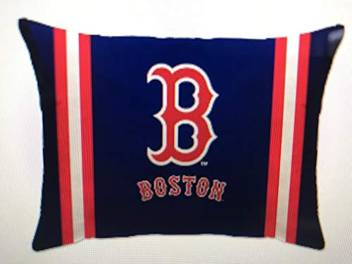 Pegasus Sports MLB Unisex MLB Plush Logo Bed Pillow, Boston Red Sox 20 x 26
