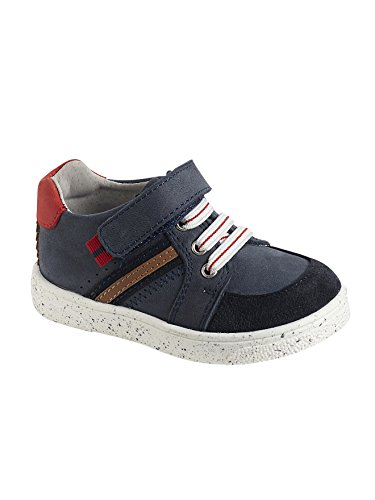 Vertbaudet Leder-Sneakers für Jungen Dunkelblau