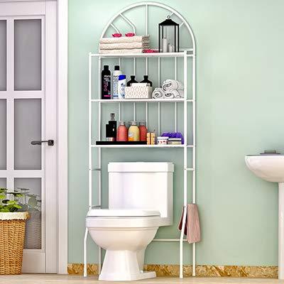 QHNMDV Estante Lavadora Rack Cuarto de baño Estantería de baño ...
