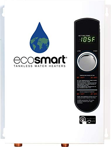 Ecosmart ECO 18 Electric Tankless Water Heater, 18 KW at 240 Volts with Patented Self Modulating Technology (Gallons Electric Parts Washer)