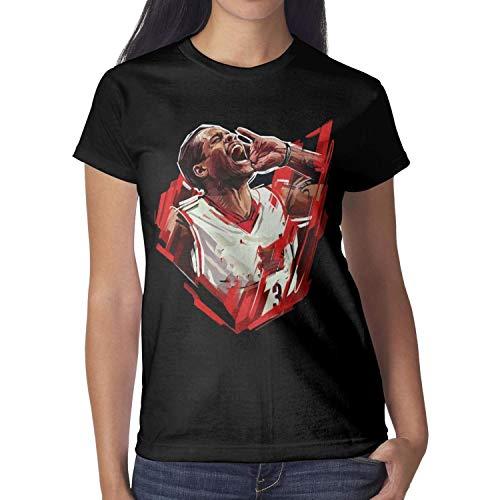 Ulvsie7 Womens American Basketball Short T Shirts Outdoor Cartoon Summer Basic Athletic