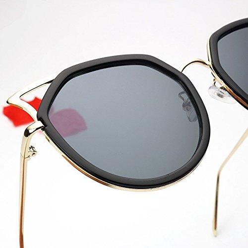 De Para Black TIANLIANG04 Gato Plata Mujeres Gafas Sol Hombres Vintage Gray Metálico Claro Polarizadas Ojo Oculos Bastidor De vw4rqw5a