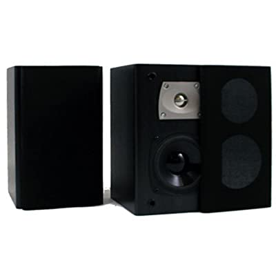 Theater Solutions B1 Bookshelf Speakers (Black) by Goldwood Sound, Inc.