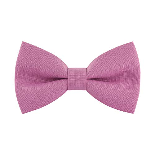 Crepe Tie - Classic Pre-Tied Bow Tie Formal Solid Tuxedo, by Bow Tie House (Large, Lilac Chiffon)
