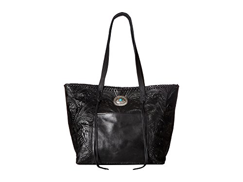 American West Women's Santa Barbara Large Shopper Tote Black Handbag