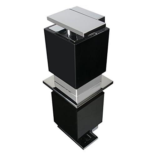 """low-cost ZEN Design BA0219.202 One Soap Lotion Dispenser, 3 1/2"""" W x 3/4"""" D x 4 3/4"""" H, Acrylic Black"""