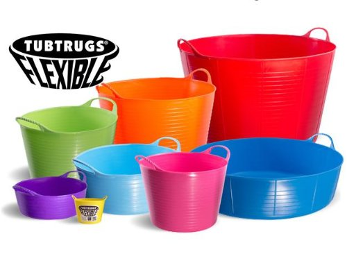 Tubtrugs Flexible Bucket ALL SIZES AND COLOURS (Blue, Large 38 Litre)