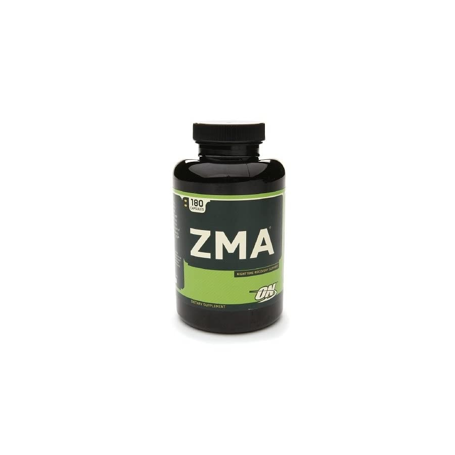Optimum Nutrition ZMA, Zinc Monomethionine Aspartate, Capsules 180 ea(pack of 3)