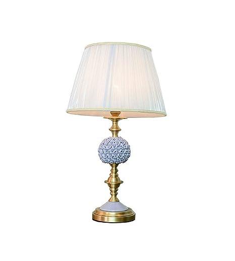 ♪ / Lámpara de mesa americana, toda la cerámica de bronce ...