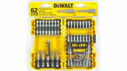 DEWALT Screwdriving Bit Set 62 Piece with Case
